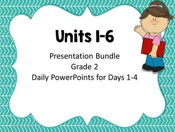 Wonders Second Grade Units 1-6 Presentation Bundle