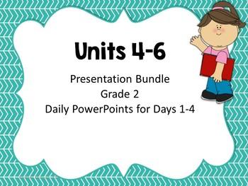 Wonders Second Grade Units 4-6 Presentation Bundle