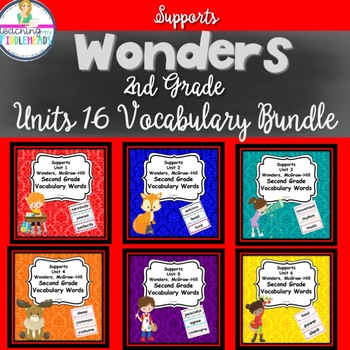 Wonders Second Grade Vocabulary Cards
