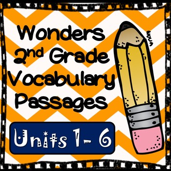 Wonders Second Grade Vocabulary Cloze Passages, All Units Bundled