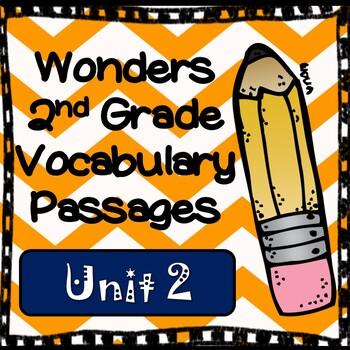 Wonders Second Grade Vocabulary Cloze Passages Unit 2
