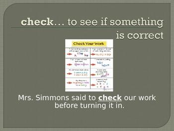 Wonders Second Grade Vocabulary Powerpoint Unit 1 Week 5 Families Work
