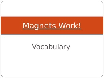 Wonders Second Grade Vocabulary Powerpoint Unit 3 Week 1 Magnets Work