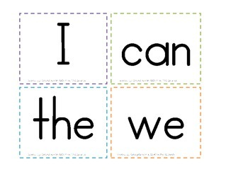 Wonders Series-- Kindergarten Sight Word Flash Cards or Word Wall 40 words