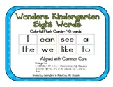 Wonders Series-- Kindergarten Sight Word Flash Cards or Wo