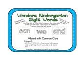 Wonders Series-Kindergarten Sight Word Mats with Go Dots-- Fine Motor-- 40