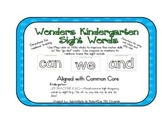 Wonders Series-Kindergarten Sight Word Mats with Go Dots--