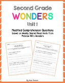 Wonders Shared Read Comprehension Questions - Grade 2, Unit 1