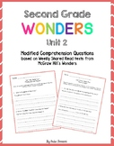 Wonders Shared Read Comprehension Questions - Grade 2, Unit 2