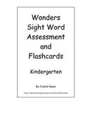 Wonders Sight Word Assessment and Flashcards - Kindergarten