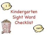 Wonders Sight Word Checklist