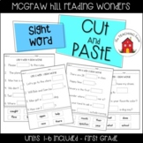 Reading Wonders Sight Word Cut and Paste