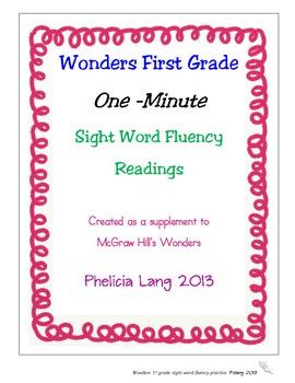 Wonders Sight Word Fluency Unit 2