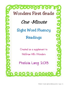 Wonders Sight Word Fluency Unit 3