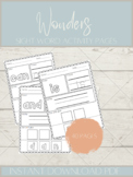 Wonders Sight Word Freebie