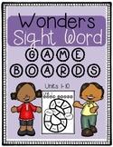Wonders Sight Word Game Boards FREEBIE