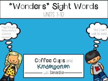 Wonders Sight Words Printables