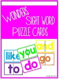 Wonders Sight Word Puzzles