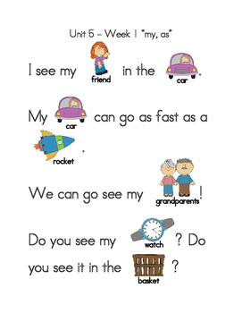 Wonders Sight Word Reading