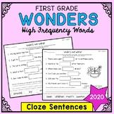 Wonders Sight Words: Cloze Sentences - First Grade High Fr