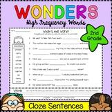 Wonders Sight Words: Cloze Sentences - Second Grade High F