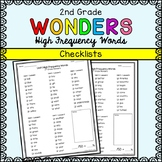 Wonders Sight Words - Second Grade High Frequency Word Checklists