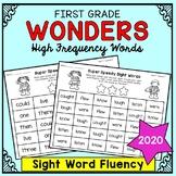 Wonders Sight Words - Sight Word Fluency - First Grade Hig