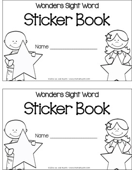 Wonders Sight Words Sticker Book