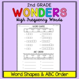 Wonders Sight Words: Word Shapes & ABC Order - Second Grade