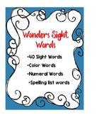 Wonders Sight Words and Spelling Words