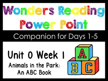 Wonders Smart Start Unit 0 Week 1 Animals In The Park Power Point Kindergarten