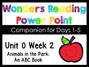 Wonders Smart Start Unit 0 Week 2 Animals In The Park Power Point Kindergarten