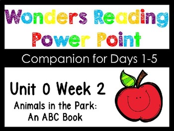 Wonders Smart Start Unit 0 Week 2 Animals In The Park Power Point Kindergarten