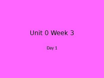 Wonders First Grade Smart Start Week 3