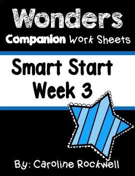 Wonders Smart Start Week 3 Worksheets/Centers Tortoise and