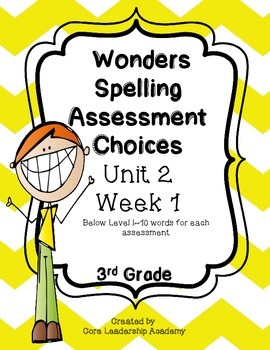 Wonders Spelling Assessment Choices DI ~Unit 2  Week  1