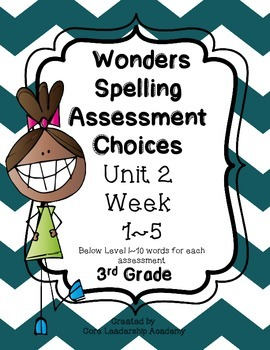 Wonders Spelling Assessment DI Choices Unit 2  DI Week  1~5