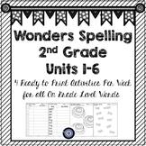 Wonders Spelling Grade 2 Units 1-6