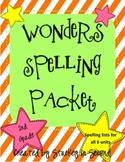 Reading Wonders Spelling Packet (2nd Grade)