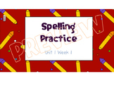 Wonders Spelling Practice Unit 1 McGraw-Hill 3rd