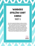 Wonders Spelling Sort Cards - Unit 1 Grade 4
