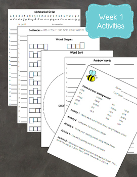Wonders 3rd Grade: Spelling Supplemental Activities for the Entire School Year