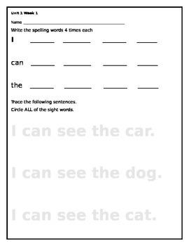 Wonders Spelling Unit 1 Week 1