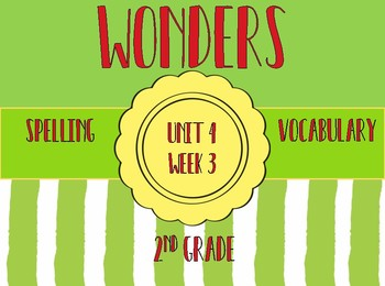 Wonders Spelling, Vocabulary, Roll & Read Activities
