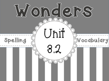 Wonders Spelling , Vocabulary, & Roll and Read Activities Unit 3 Week 2