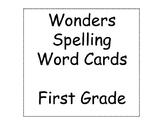 Wonders Spelling Word Cards- 1st Grade