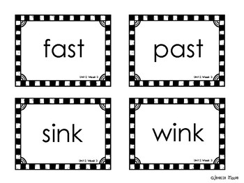 Phonics Spelling Word Cards for Reading Wonders 1st grade {Units 1-6}