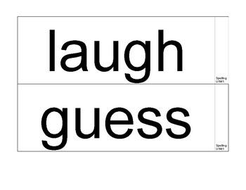 Wonders Spelling Words for display - Grade 5