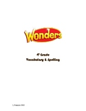 Wonders Spelling and Vocabulary