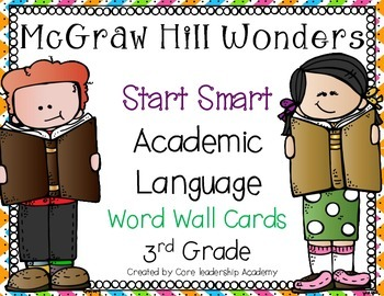 Wonders Start Smart Academic Language~ 3rd Grade